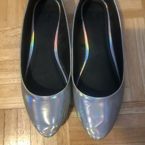 Holographic Forever 21 Flats size 7